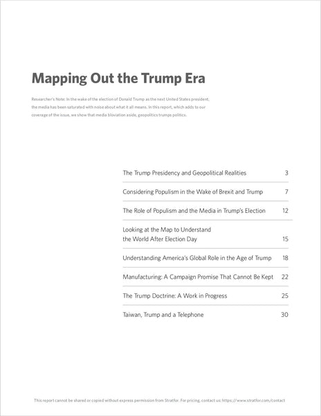 Mapping Out the Trump Era