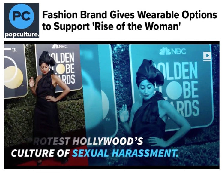 #metoo #timesup #whywewearblack rise of the woman GOLDEN GLOBES