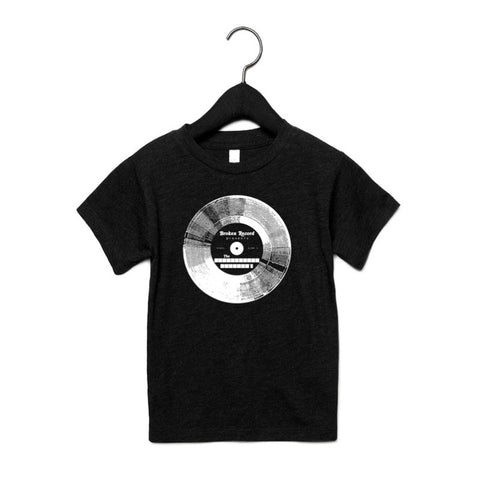 BROKEN RECORD KIDS TSHIRT - BLACK TRI-BLEND