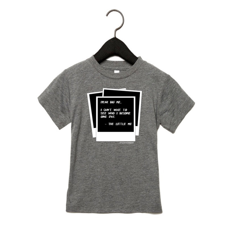 DEAR BIG ME®️ POLAROID KIDS TSHIRT - GREY TRI-BLEND