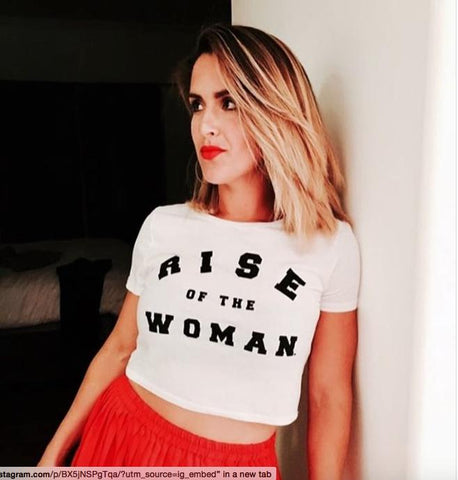 RISE OF THE WOMAN® SIGNATURE TSHIRT CROP - WHITE