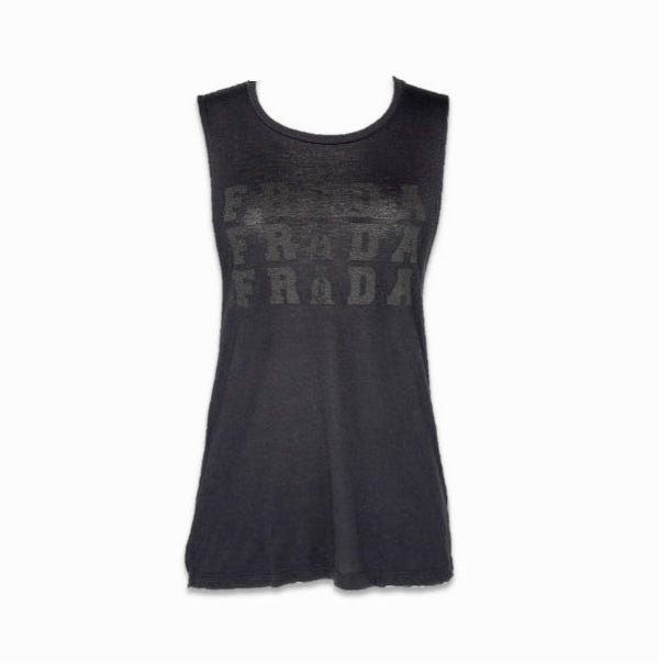 FRIDA KAHLO BLACK OUT MUSCLE TANK