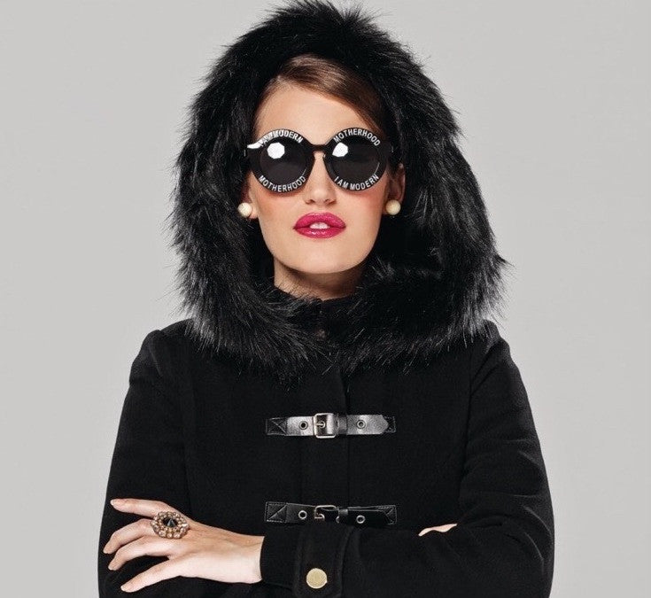 I AM MODERN MOTHERHOOD® | BLACK ROUND SUNGLASSES