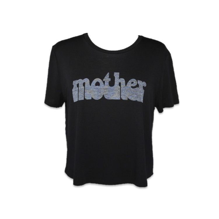 HAIGHT ASHBURY MOTHER LOOSE CROP - BLACK