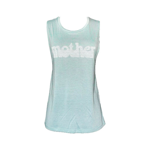 HAIGHT ASHBURY MOTHER MUSCLE TANK - SEAFOAM
