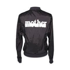 HAIGHT ASHBURY MOTHER BLACK NYLON JACKET WITH BRONZE ZIPPER