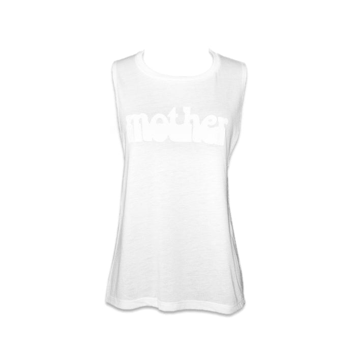 HAIGHT ASHBURY MOTHER MUSCLE TANK - WHITE