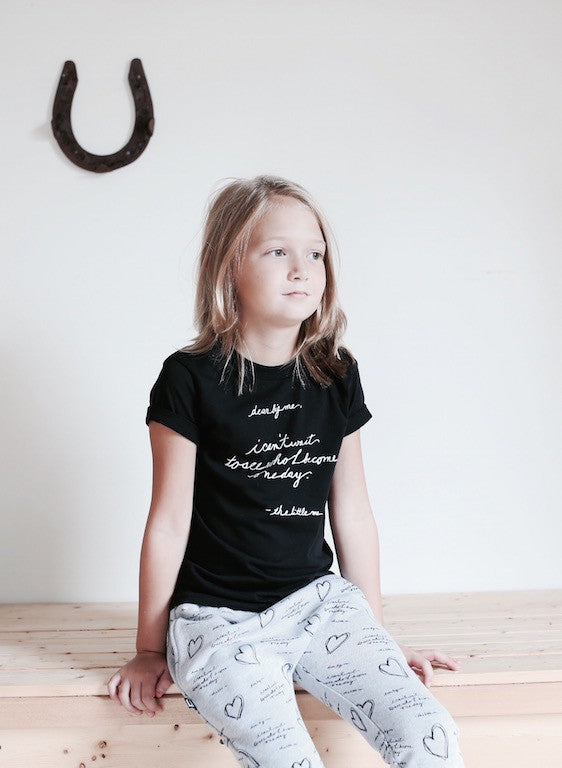 DEAR BIG ME® | BLACK BABY & KIDS TSHIRT
