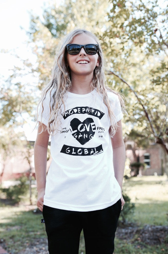 MODERN KID LOVE GANG | WHITE KIDS TSHIRT