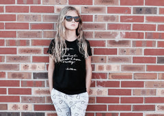 DEAR BIG ME® BLACK BABY & KIDS TSHIRT