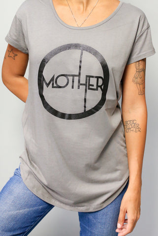 MOTHER CIRCLE© | GREIGE MODAL SLOUCH TEE