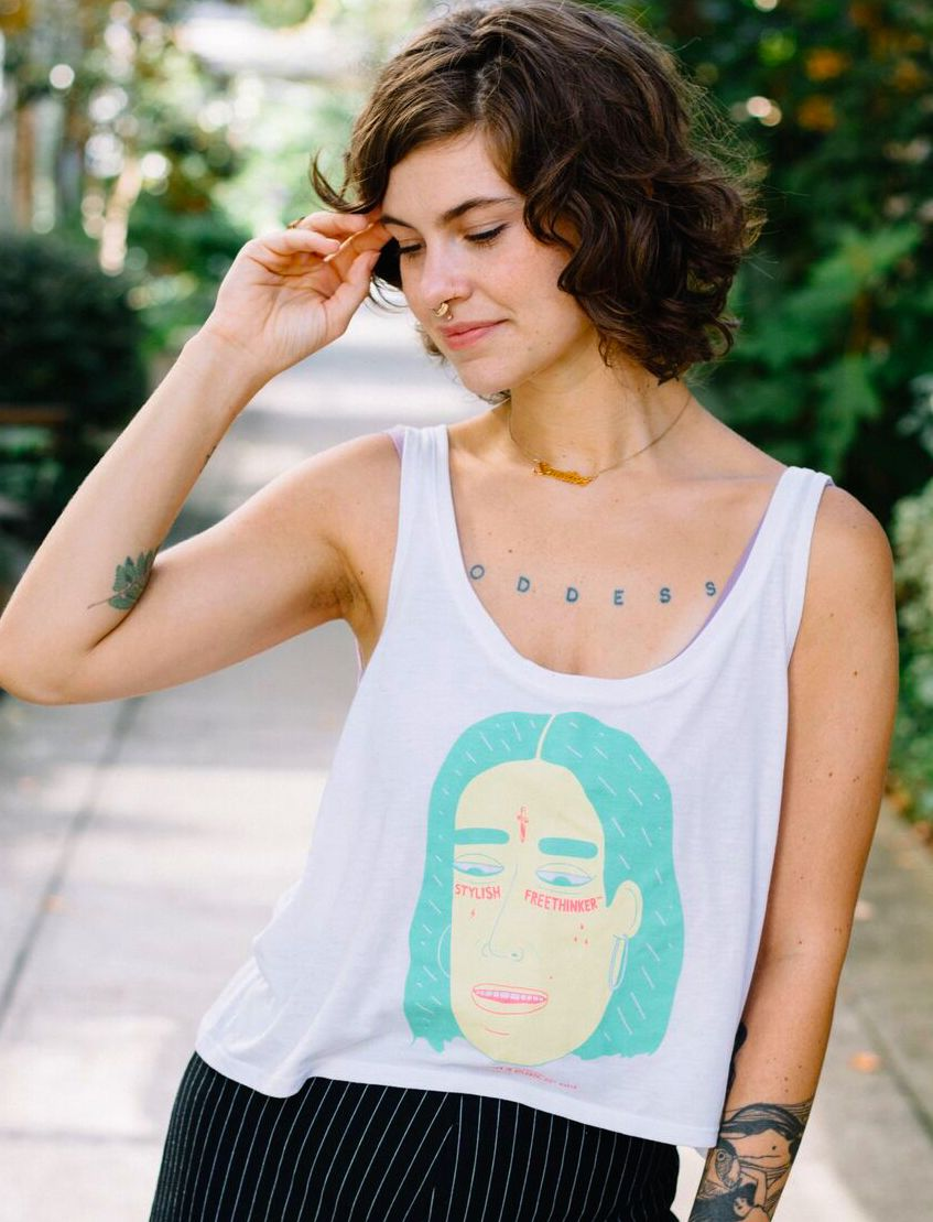 STYLISH FREETHINKER™ x BRENT™ LIMITED EDITION WOMEN'S LOOSE TANK TOP