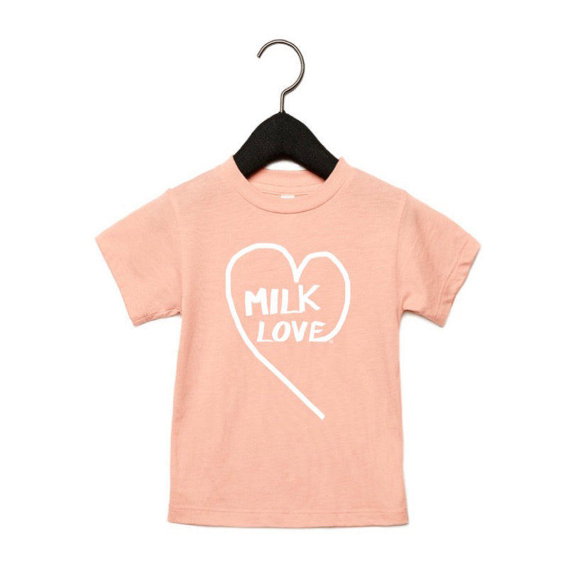 MILK LOVE®️ KIDS TEE - PEACH TRI-BLEND