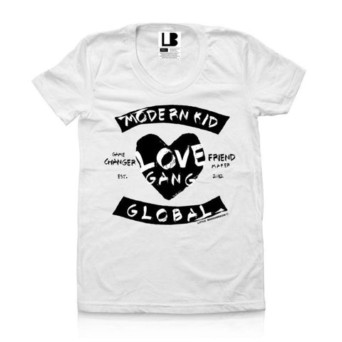 MODERN KID LOVE GANG WHITE KIDS TSHIRT