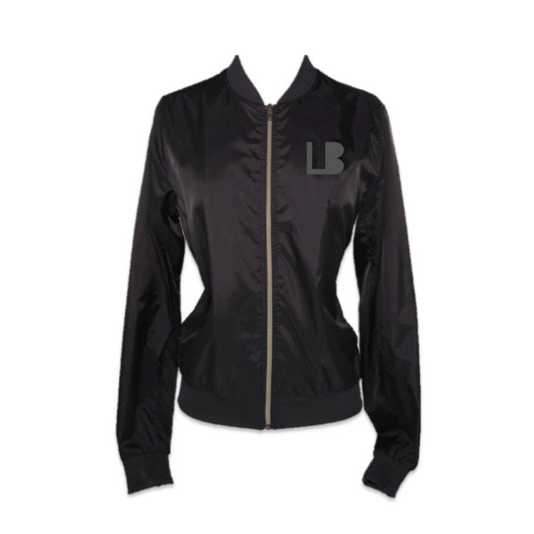 RISE OF THE WOMAN® BLACK NYLON JACKET WITH BRONZE ZIPPER