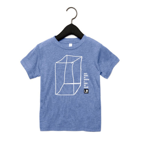 OUTSIDE THE BOX KIDS T-SHIRT - BLUE TRI-BLEND