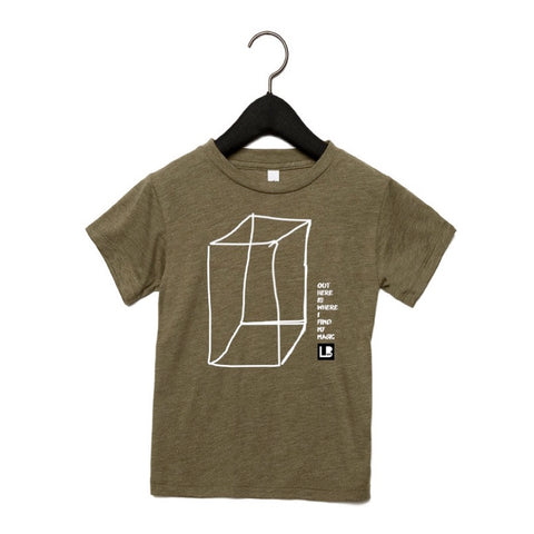 OUTSIDE THE BOX KIDS T-SHIRT - OLIVE TRI-BLEND