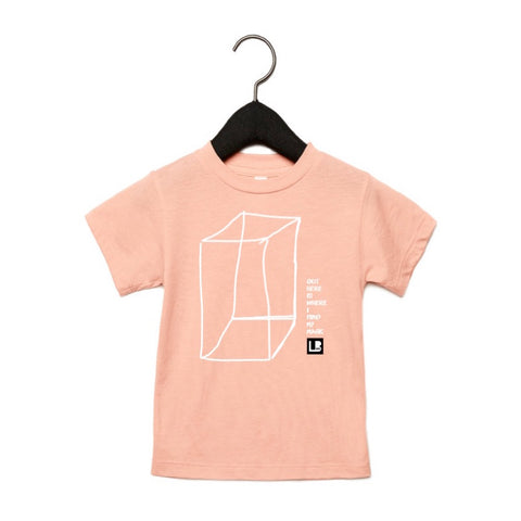 OUTSIDE THE BOX KIDS T-SHIRT - PEACH TRI-BLEND