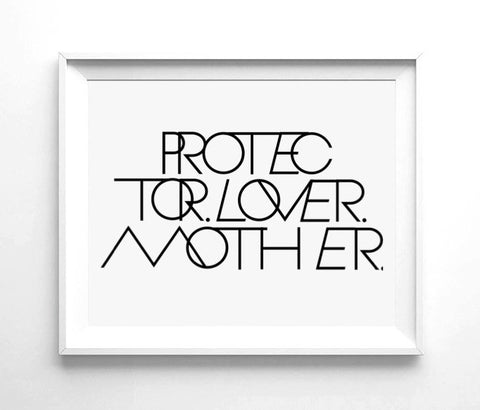 PROTECTOR LOVER MOTHER® WALL PRINT | 8.5 X 11