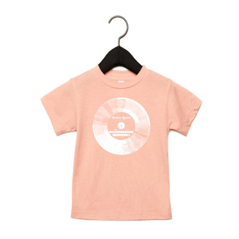 BROKEN RECORD KIDS TSHIRT - PEACH TRI-BLEND