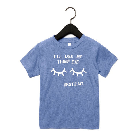 THIRD EYE KIDS T-SHIRT - BLUE TRI-BLEND