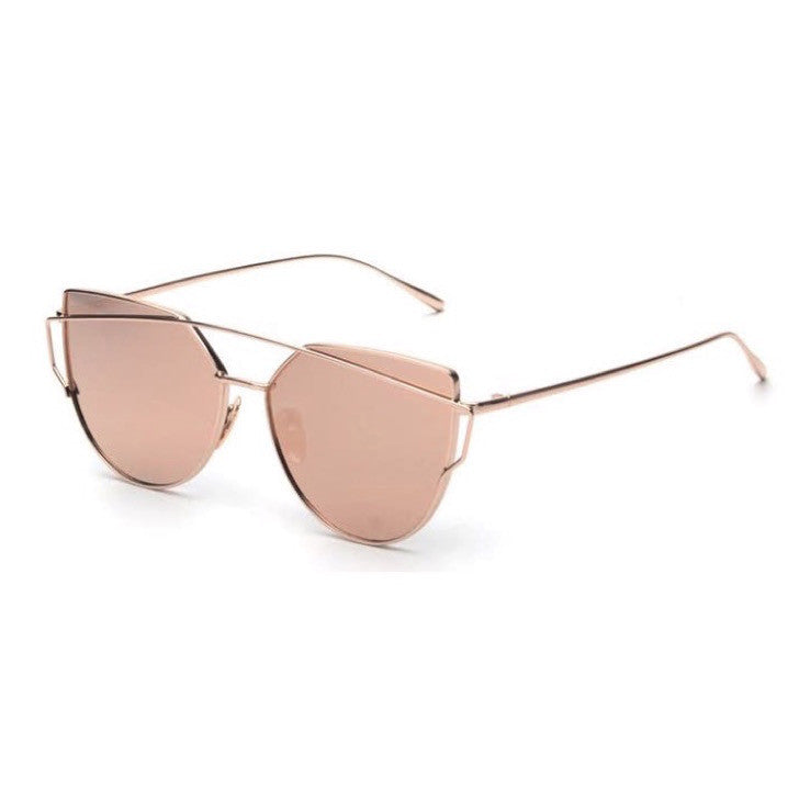 STYLISH FREETHINKER™  BLUSH AND GOLD SUNGLASSES