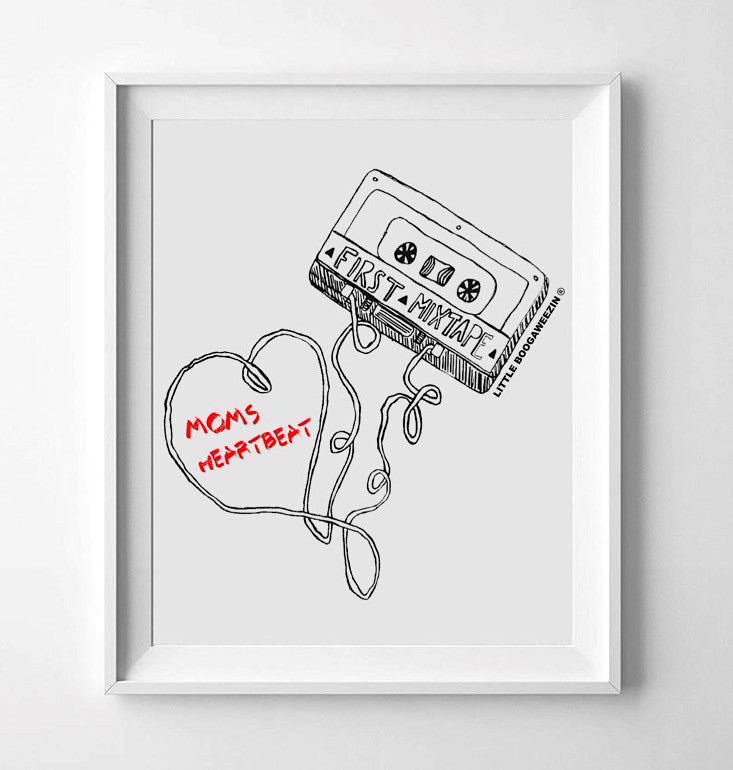 FIRST MIXTAPE MOMS HEARTBEAT© WALL PRINT | 8.5X111