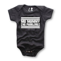 MO MOMMY NO PROBLEMS® | BLACK BABY ONE-PIECE
