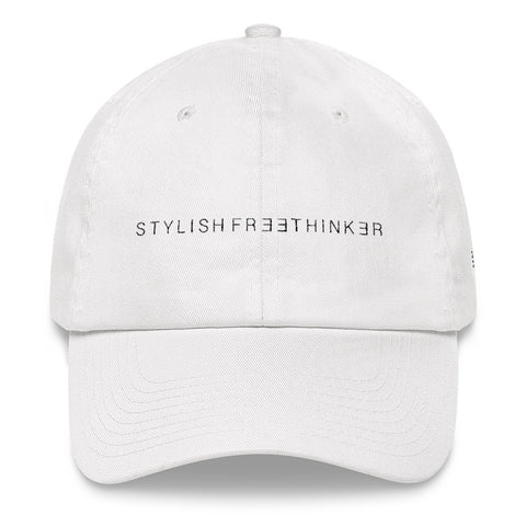 STYLISH FREETHINKER™ EMBROIDERED WHITE BASEBALL HAT