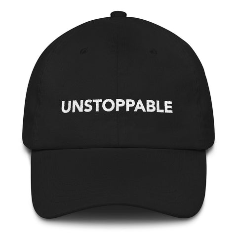 RISE OF THE WOMAN® UNSTOPPABLE EMBROIDERED BLACK BASEBALL HAT