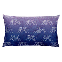 INTERLOCK PROTECTOR LOVER MOTHER® INDIGO & BLUSH WATERCOLOR LOGO PILLOW