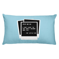 DEAR BIG ME® POLAROID PILLOW - BLUE