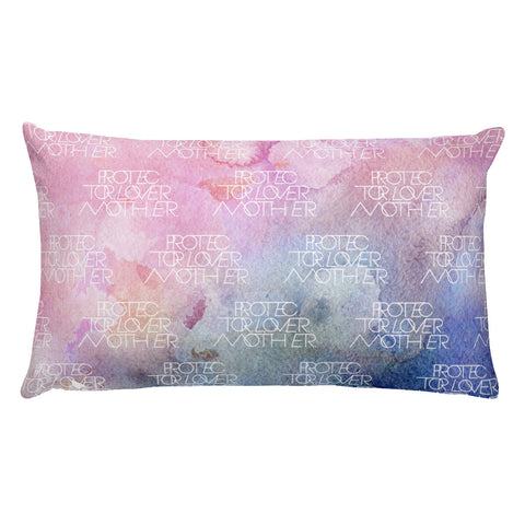 INTERLOCK PROTECTOR LOVER MOTHER® MULTI PASTEL WATERCOLOR LOGO PILLOW