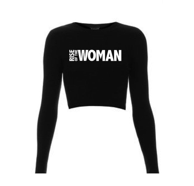 RISE OF THE WOMAN™ SPORT | BLACK SPORTFIT CROP SHIRT