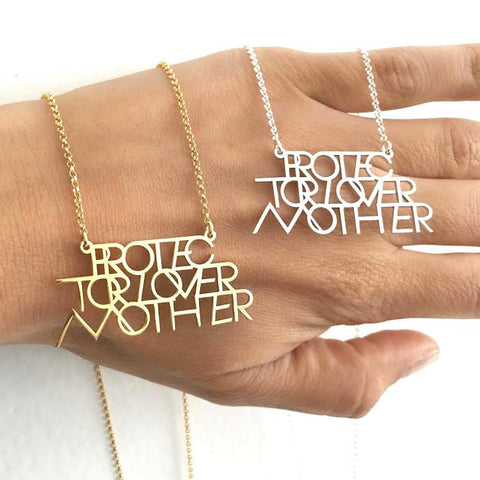 INTERLOCK PROTECTOR LOVER MOTHER® PENDANT NECKLACE