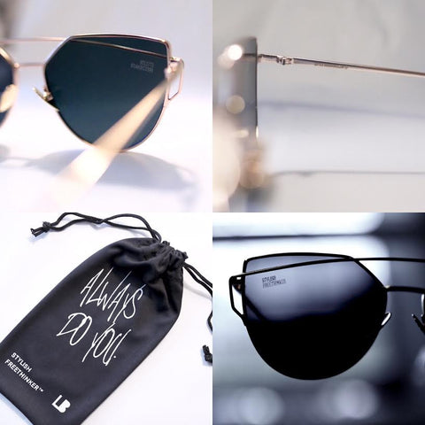 STYLISH FREETHINKER™ SUNGLASSES | CHARCOAL & GOLD