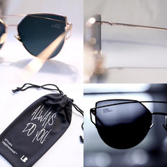 STYLISH FREETHINKER™ CHARCOAL & GOLD SUNGLASSES