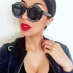 I AM MODERN MOTHERHOOD® BLACK ROUND SUNGLASSES