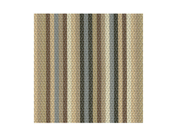 Sambonet Table Mat Grey/Brown Strip 42x33cm