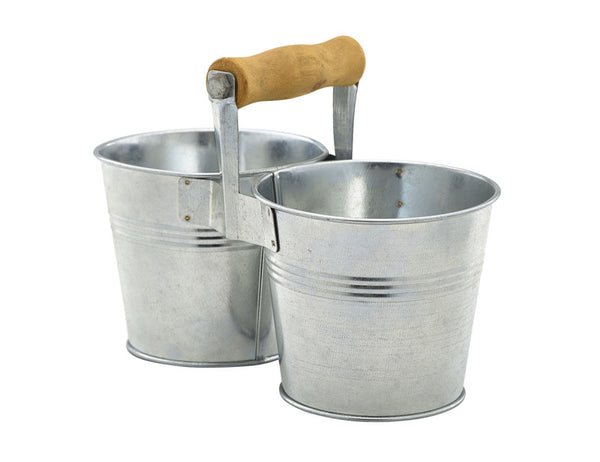 Genware Galvanised Combi Serving Bucket 10cm