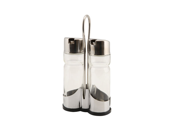 Genware 3 Piece Cruet Set Spare Bottle 18cl