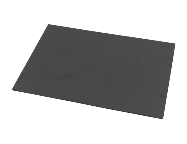 Genware Straight Edge Slate Rectangular 25x13cm