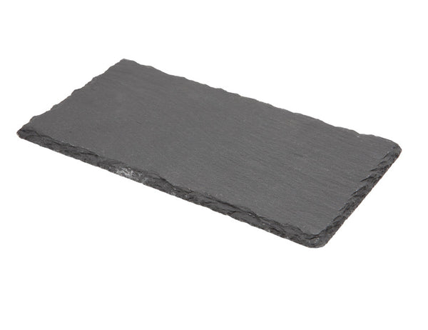 Genware Natural Edge Slate Rectangular 20x11cm