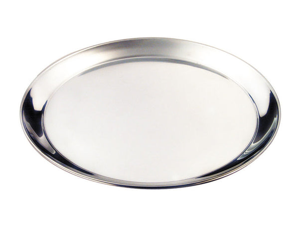 Genware Stainless Steel Round Tray 30cm
