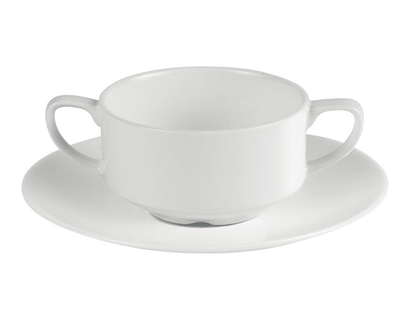 Porcelite Connoisseur Handled Soup Cup 25cl