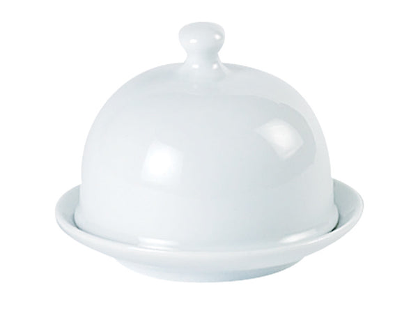 Porcelite Standard Round Covered Butter Dish 9x7cm