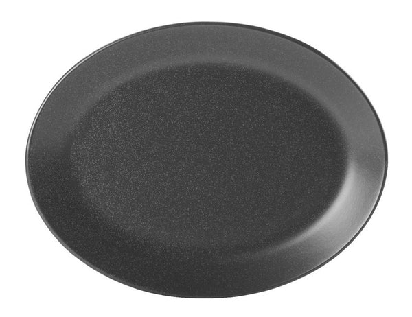 Porcelite Seasons Graphite Oval Plate 30cm