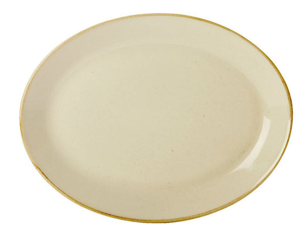 Porcelite Seasons Wheat Oval Plate 30cm