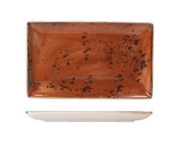 Steelite Craft Rectangular Platter Terracotta 27cm