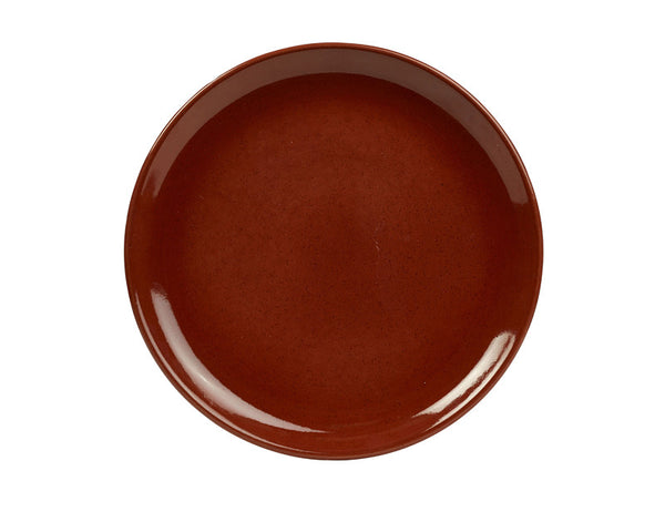 Terra Stoneware Red Coupe Plate 24cm
